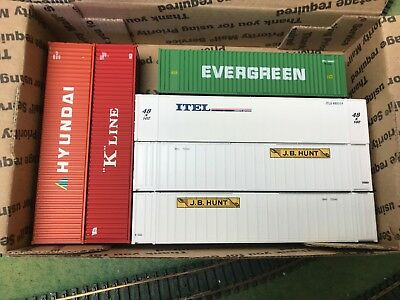 HO Shipping Containers, 3-40' and 3-53'