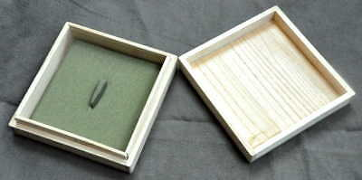 Tsuba box, green lining, without pillow, from Japan