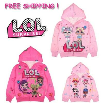 LOL Surprise Girls Toddler Hoodie Sweatshirt Kids L.O.L Doll Pink Long Sleeve