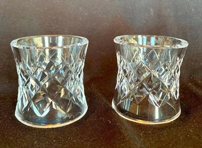 2 Waterford Crystal Etched Vintage Comeragh Napkin rings Excellent condition