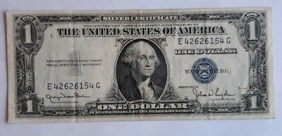 1935 D - ONE DOLLAR SILVER CERTIFICATE W/BLUE SEAL, CIRCULATED  Nice
