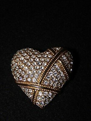 Georgane F Love Easley Legacy Of Love Pave Heart Pin/pendant - Rare Dar Find!