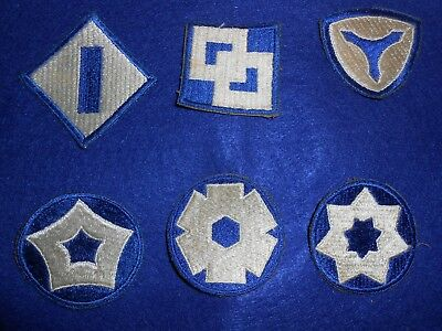 WW2 Patch Lot Of Service Command Patches