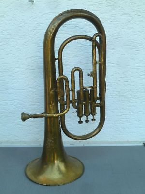 Tenorhorn in B/C, Ende 19. Jh., Messing, signiert - M. de Vries