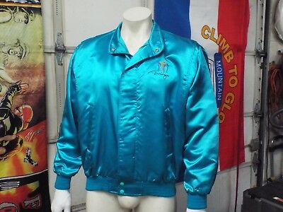 Vintage 90s Mirage Las Vegas Hotel Casino Satin Reversible Jacket Size Large