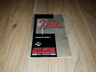 The Legend of Zelda - A Link To The Past Super Nintendo SNES Manual PAL
