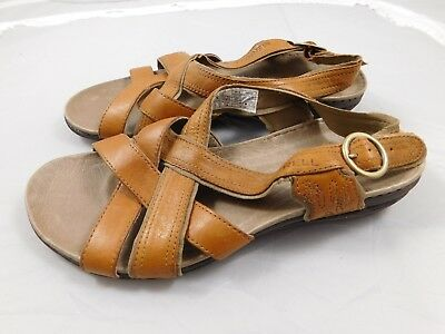 897049a8be1c MERRELL BASSOON WOMEN S Brown Leather Strappy Slingback Sandals - US ...