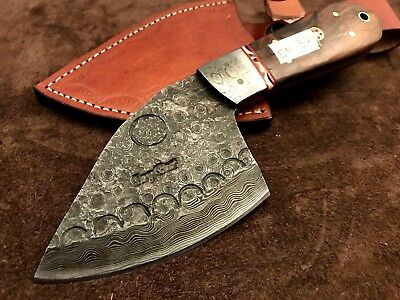 Handmade-Blacksmith Damascus Steel Hunting Knife-Functional-Sharp-DH320