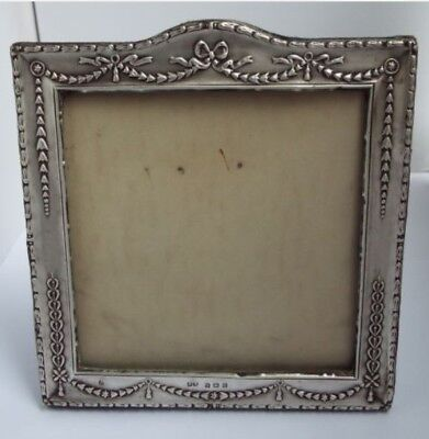 Lovely Genuine English Antique Edwardian 1907 Solid Sterling Silver Photo Frame