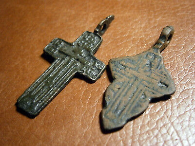 Ancient Kievan Rus Russian Empire Bronze Crosses Christian Orthodox Church