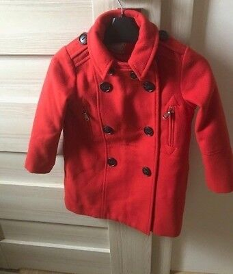 ***Next Girls Red Military Coat Size 4 Years***Rrp £30