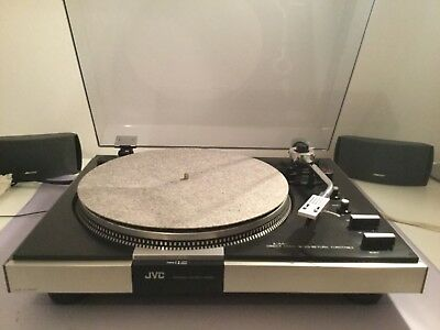 JVC JL-A40 Rare 70's Direct Drive Turntable Stereo Record Player - YouTube Video
