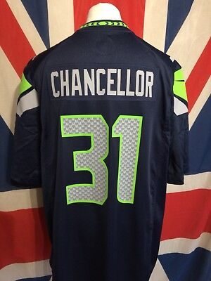 Seattle Seahawks Nike Nfl Navy American Football Jersey Chancellor 31 Size Xl