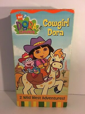 Dora The Explorer Nick Jr Vhs Lot Of 2 Cowgirl Pirate Adventure