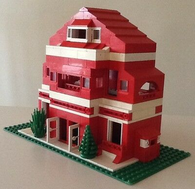 Vintage Lego Custom Built - Three Floor House / Villa - Unique Design - Free P&p