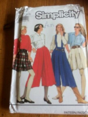 Simplicity Vintage Split Skirt paper sewing pattern. New & Uncut 9787 size 6-14