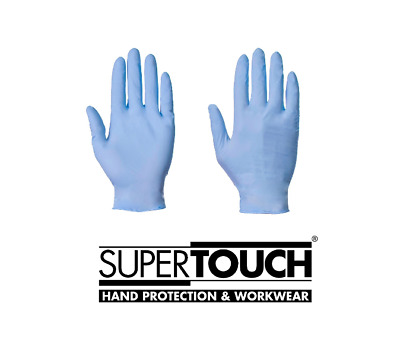 100 ST Supertouch Vinyl Gloves Medium P//Free Clear Work Food Safe Factory Prep