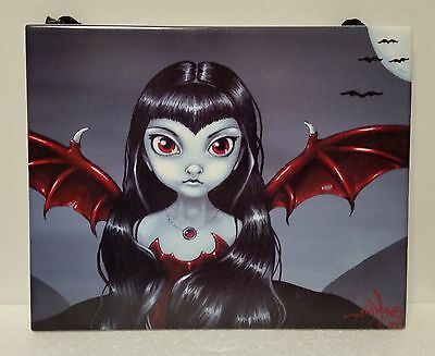 """Jasmine Becket-Griffith """" RED WINGED FAIRY """" Wall Art Tile ©2008, Brand New"""