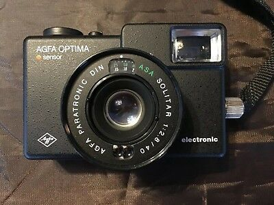 Agfa Optima  Electronic Sensor Camera with Agfa Case 40mm f2.8 Excellent