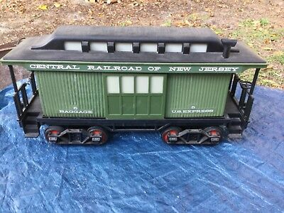 Vintage Jim Beam Decanter Baggage Car No. 5 Central Railroad of New Jersey Empty