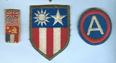 3 Vintage WW 2 Patches China-Burma-India, 3rd Army & Berlin Occupation Zone