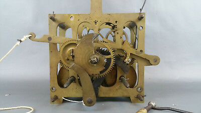 Old Antique Mechanism Vienna Regulator Wall Clock