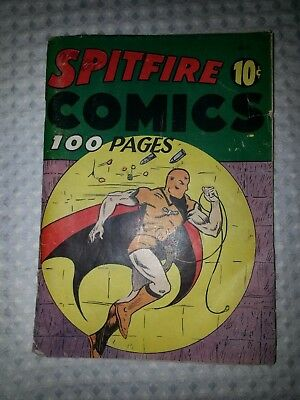 SPITFIRE COMICS #2-Harvey-Original 1941 Golden Age-FLY-MAN