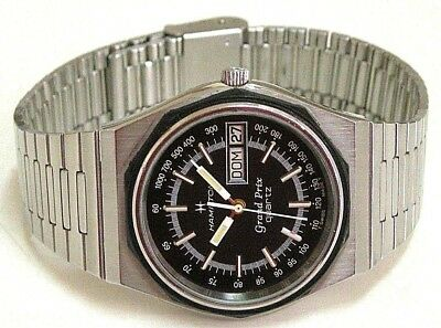 Rare Vtg 1970  Hamilton Grand Prix Lted Edit Swiss Watch, Men´s, D-D, St-St, Qtz