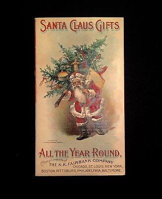 Antique Booklet Advertising Santa Claus Soap From NK Fairbanks Co 15 Pages 1899