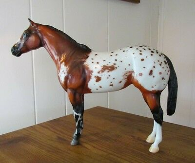 Breyer Traditional custom etched lady phase model to appaloosa
