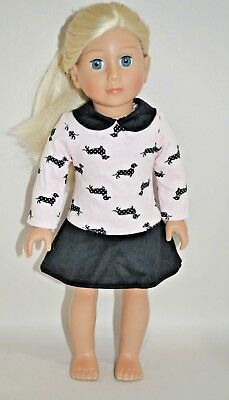 """American Girl Doll Our Generation Journey Girl 18"""" Dolls Clothes Dog Dress"""