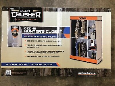 Scent Crusher Odor Eliminating Ozone Hunter's Closet Ozone Generator BRAND NEW