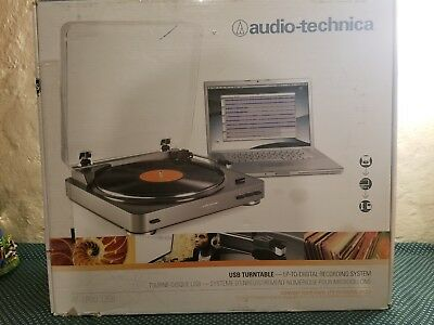 Audio Technica AT-LP60BK-USB Fully Automatic Belt-Drive Stereo Turntable USB /&