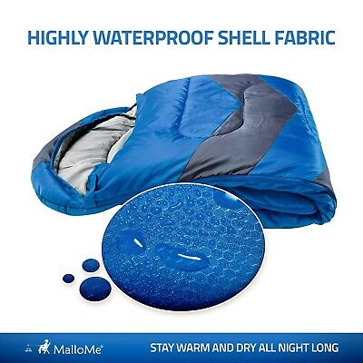 Cold Weather Sleeping Bag Warm Teen Kids Camping Adults Lightweight Backpacking