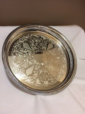 Bristol Silverplate EPCA 66 Galley Tray by Poole,13in./3 legs
