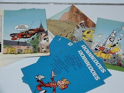 SPIROU ROBBEDOES LOT OF POST CARDS 1980s PROMO CARD FRANQUIN