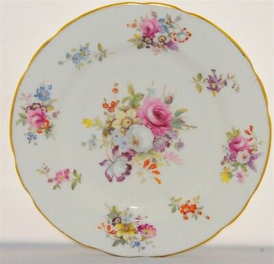 1- Hammersley Signed 7' Tea Plate Howard Sprays Pattern (8 Available)