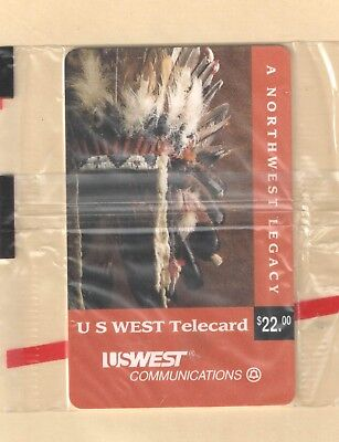 US West 1994 Legacy $22 Phone Card in Sealed Pack  with Brochure Mint