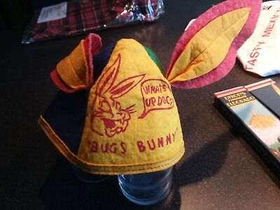 vintage bugs bunny cap, felt,  colorful, from 70's