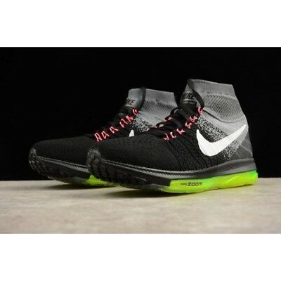 New  Nike Zoom All Out Flyknit Size 10.5 Running Shoes 844134 002 MSRP $200.00
