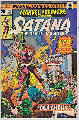 Marvel Premiere#27 Vf 1975 Satana Marvel Bronze Age Comics