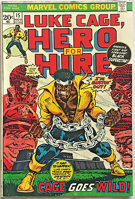 Luke Cage Hero For Hire#15 Fn/vf 1973 Marvel Bronze Age Comics