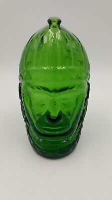 """Vintage Wheaton Green Glass """"Simmons Centennial Bitters Bottle"""" Army General"""