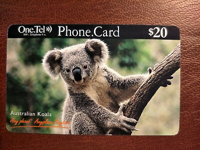 Used $20 One. Tel  Koala Phonecard