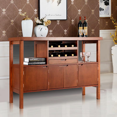 MODERN DINING ROOM Buffet Table Storage Cabinet Wine Rack ...