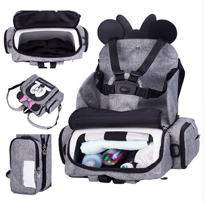 2019 Baby Diaper Bag Booster Seat Waterproof Maternity Travel Backpack Nappy Bag