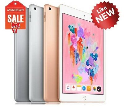 "NEW Apple iPad 6th 2018, 32GB 128GB, Wifi + Cellular 9.7"" GRAY SILVER GOLD"