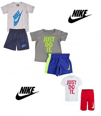 NIKE Toddler Boys' Dri Fit Short Sleeve T-Shirt and Short 2 Piece Set