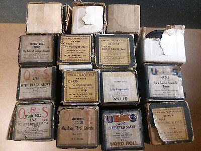 Vintage Player Piano Rolls Mixed Lot of Musical Reels Some Kimball