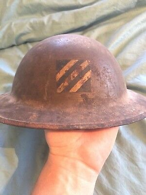 """WWI 3rd Division """"Rock Of The Marne"""" Helmet"""